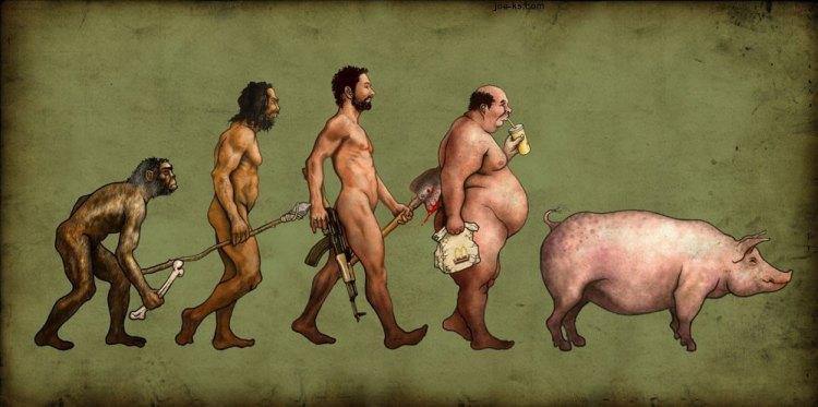 de-evolution of man