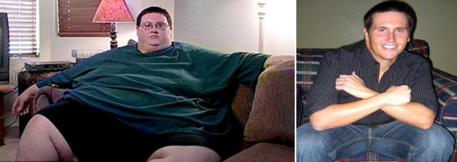 Before: 630 lbs........After: 229 lbs