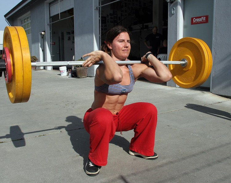 Crossfit builds fit females