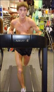 Brandon Moen: treadmill marathon champ