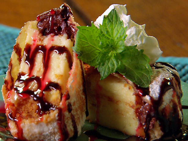 deep fried cheesecake: Paula Deen