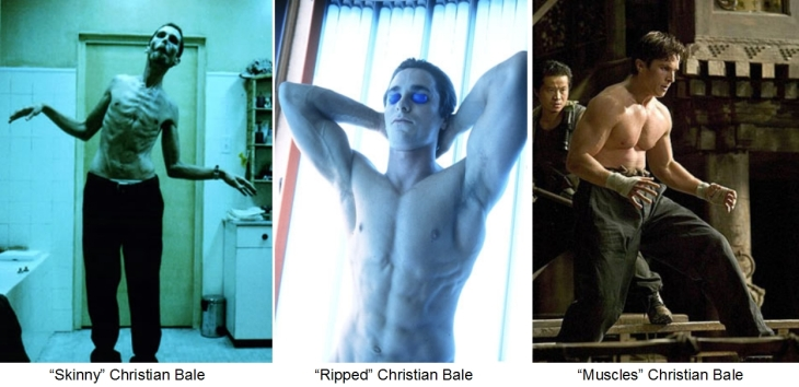 Christian Bale muscle transformation