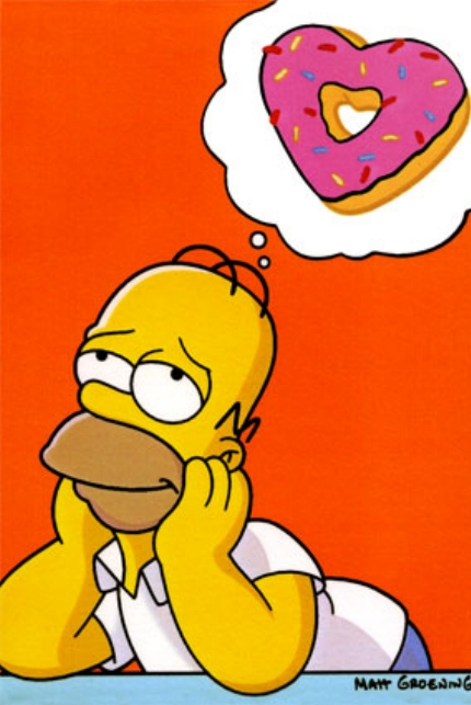 homer simpson dreaming of donuts