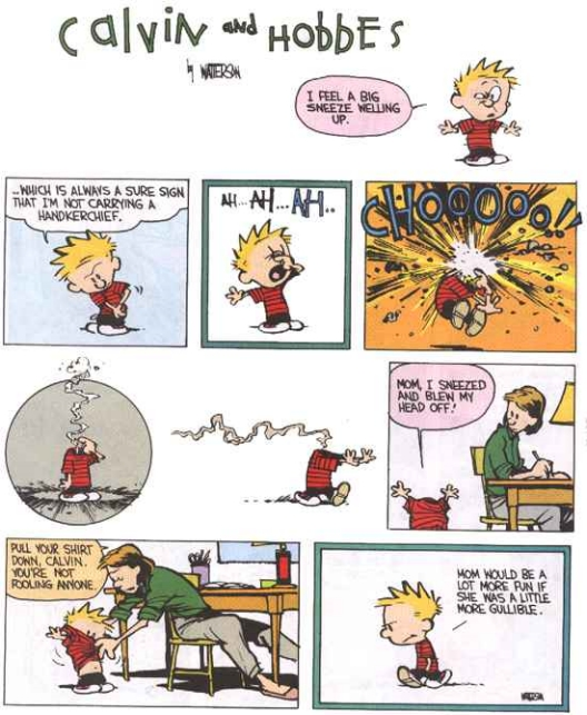 sneeze - calvin and hobbes