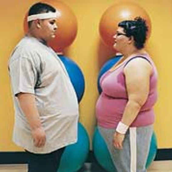 fat couple exercise