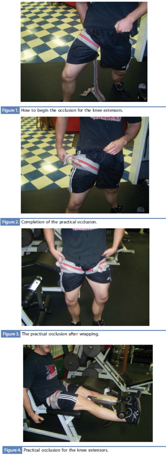 occlusion training - leg extension
