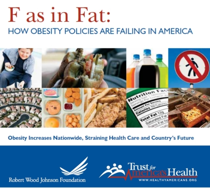 trust for america's health f as in fat obesity report 2008