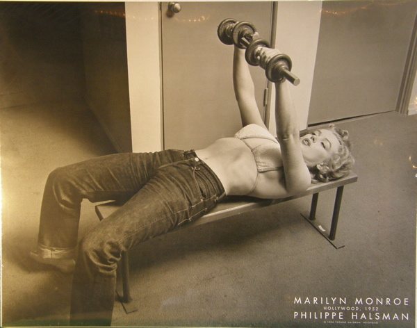 marilyn monroe exercise weights