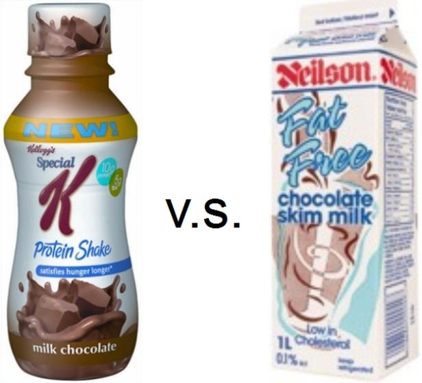 special k protein shake vs chocolate milk