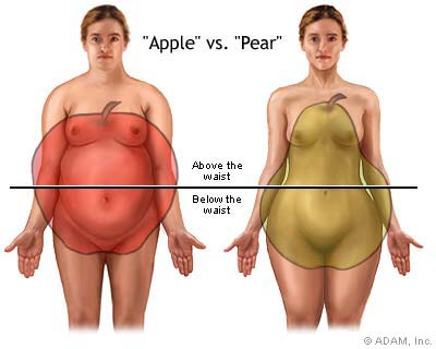 apple vs pear-health-obesity-appearance-bodyfat-fitness-healthhabits