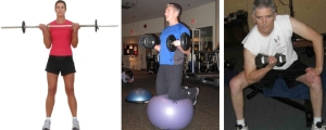 bicep curl standing seated healthhabits fitness exercise