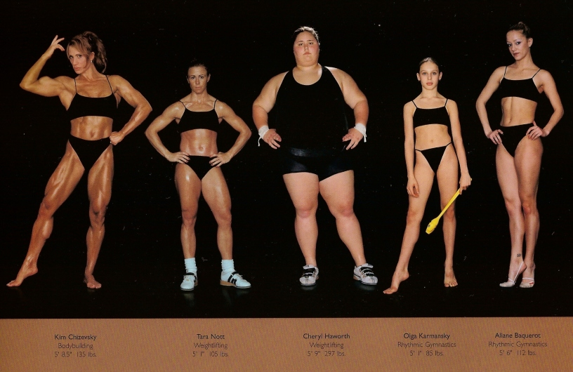 athletes - diff sizes and shapes