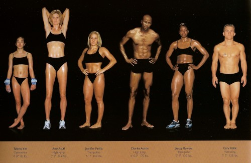 athletes - diff sizes and shapes 2