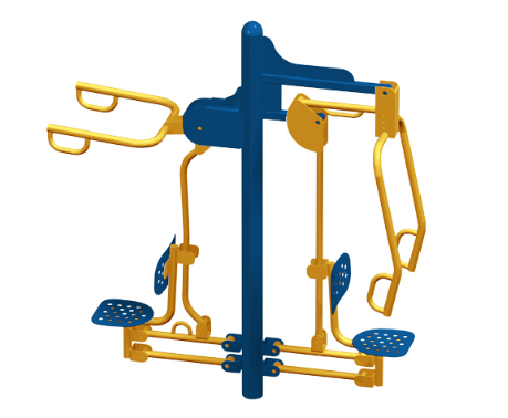 outdoor fitness equipment - lat pull chest press