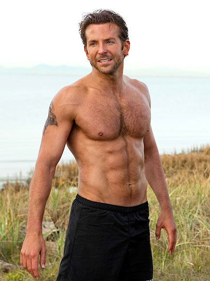 bradley cooper shirtless body abs