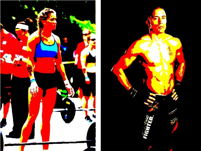 fit man woman posterize