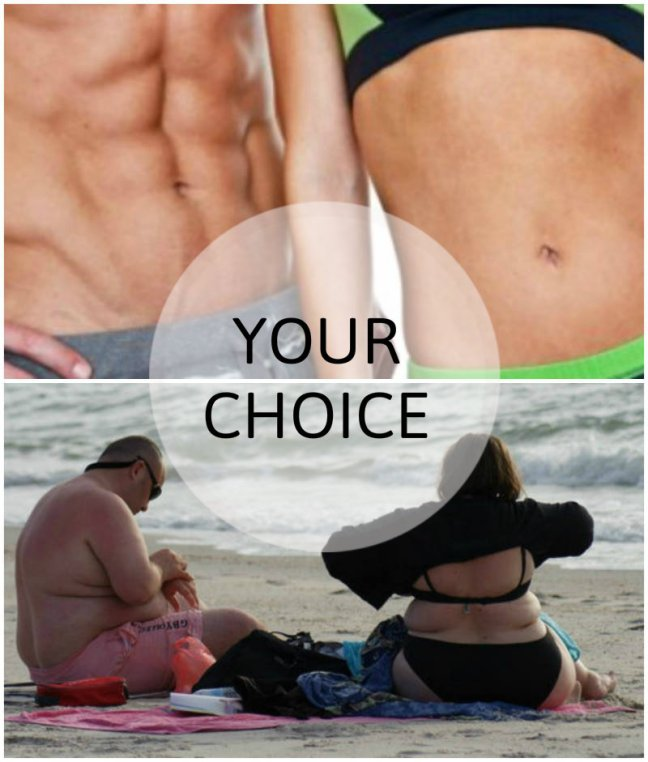 fat fit couple its your choice